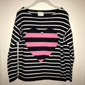 💖 Crew Cuts (J Crew) striped sweater with heart